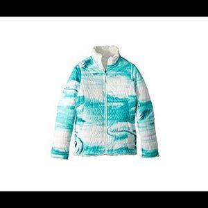 Northface Girls 14/16 reversible mossbud jacket
